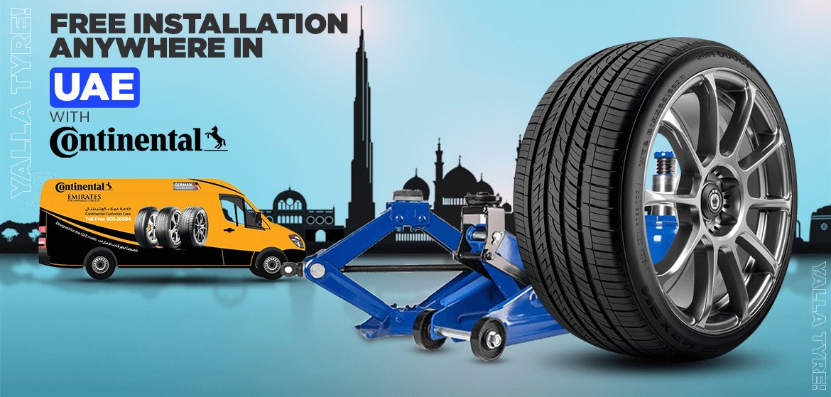 Free Tyres Installation for Continental Brand
